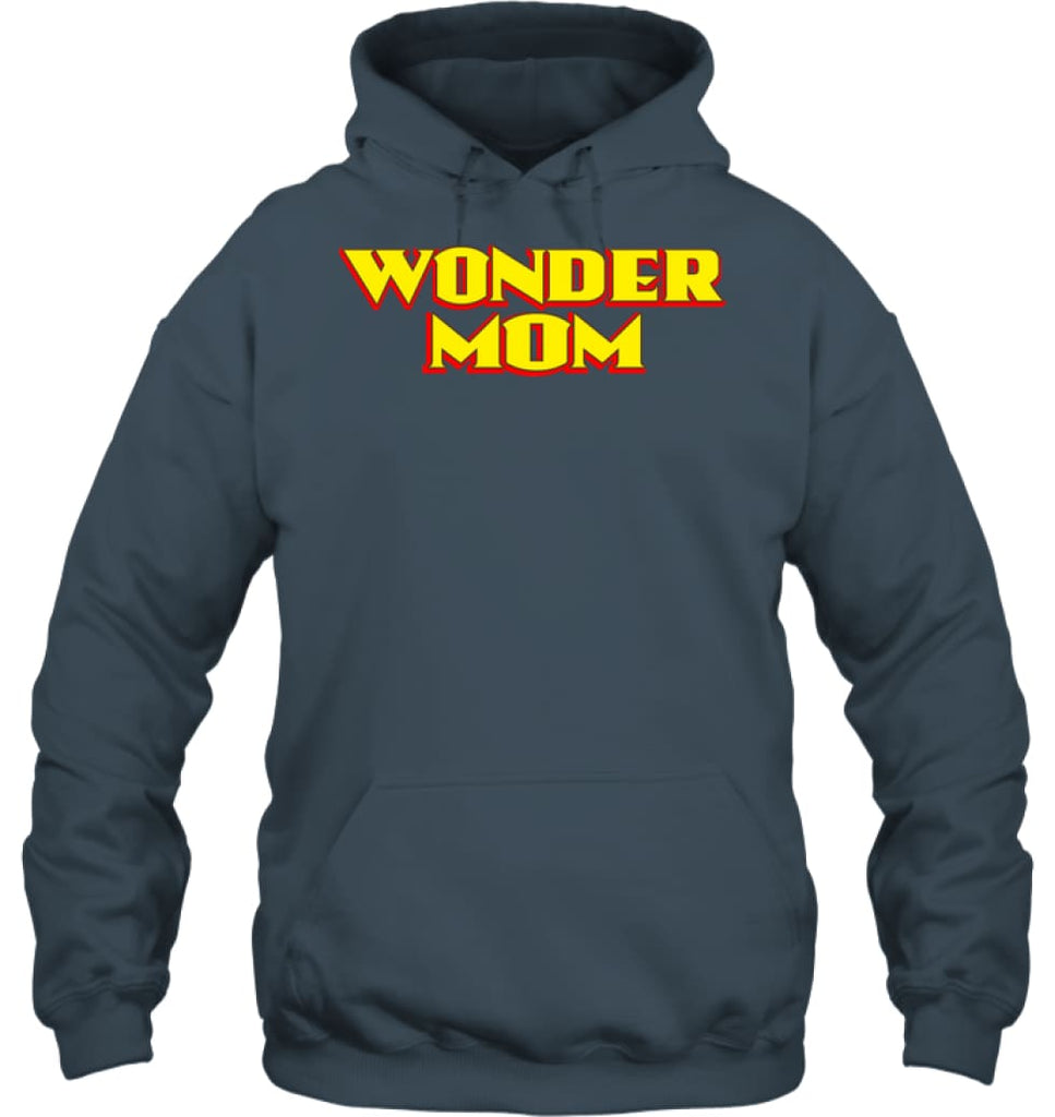 Wonder Mom Best Christmas Gift for Mom Hoodie - Gildan 8oz. Heavy Blend Hoodie / Dark Heather / S - Apparel