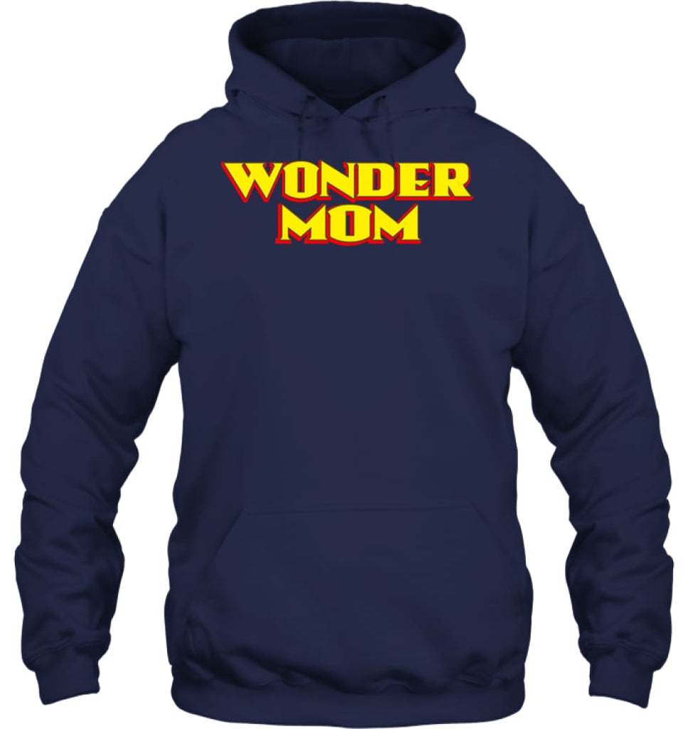 Wonder Mom Best Christmas Gift for Mom Hoodie - Gildan 8oz. Heavy Blend Hoodie / Navy / S - Apparel