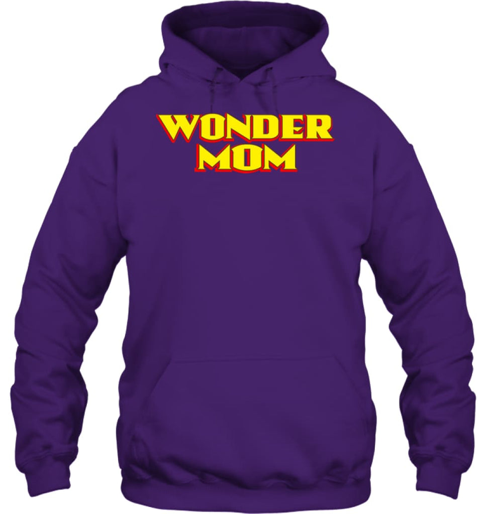 Wonder Mom Best Christmas Gift for Mom Hoodie - Gildan 8oz. Heavy Blend Hoodie / Purple / S - Apparel