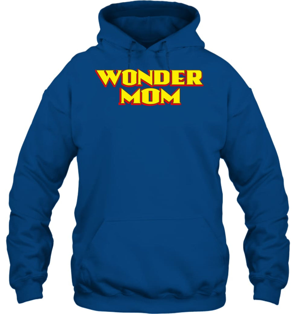 Wonder Mom Best Christmas Gift for Mom Hoodie - Gildan 8oz. Heavy Blend Hoodie / Royal / S - Apparel