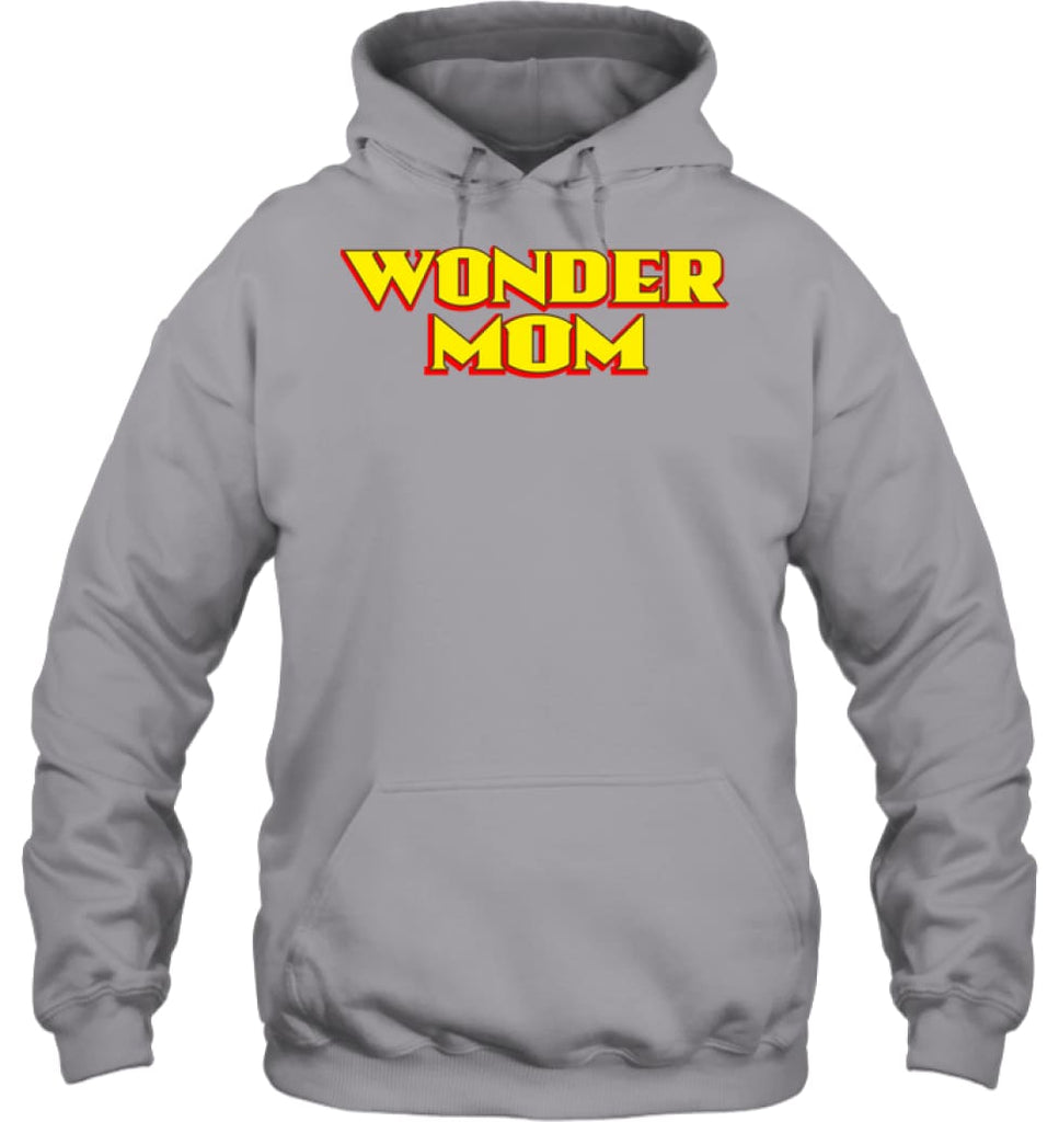 Wonder Mom Best Christmas Gift for Mom Hoodie - Gildan 8oz. Heavy Blend Hoodie / Sport Grey / S - Apparel
