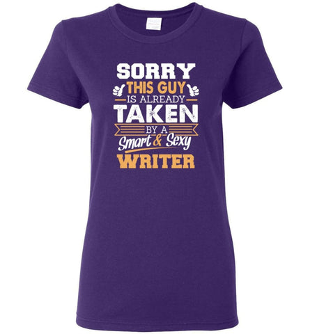 Writer Shirt Cool Gift for Boyfriend Husband or Lover Women Tee - Purple / M - 7