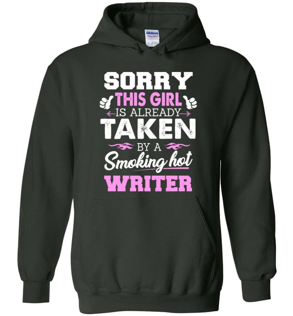 Writer Shirt Cool Gift for Girlfriend Wife or Lover - Hoodie - Forest Green / M