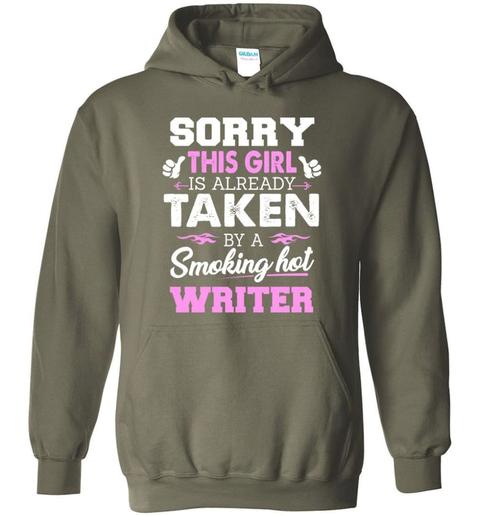 Writer Shirt Cool Gift for Girlfriend Wife or Lover - Hoodie - Military Green / M