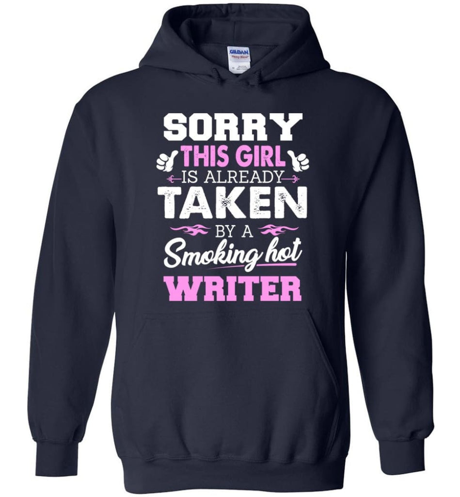 Writer Shirt Cool Gift for Girlfriend Wife or Lover - Hoodie - Navy / M