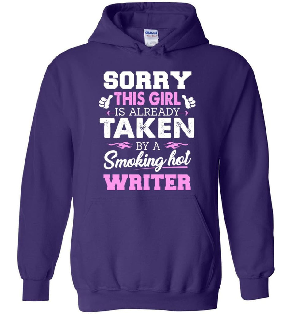 Writer Shirt Cool Gift for Girlfriend Wife or Lover - Hoodie - Purple / M