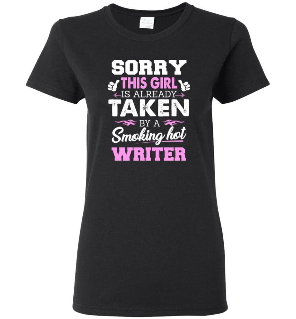 Writer Shirt Cool Gift for Girlfriend Wife or Lover Women Tee - Black / M - 7