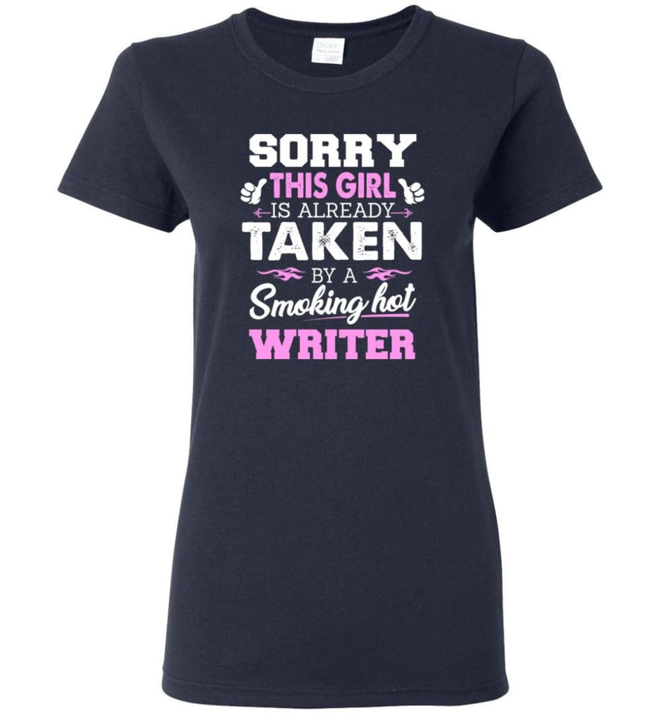 Writer Shirt Cool Gift for Girlfriend Wife or Lover Women Tee - Navy / M - 7