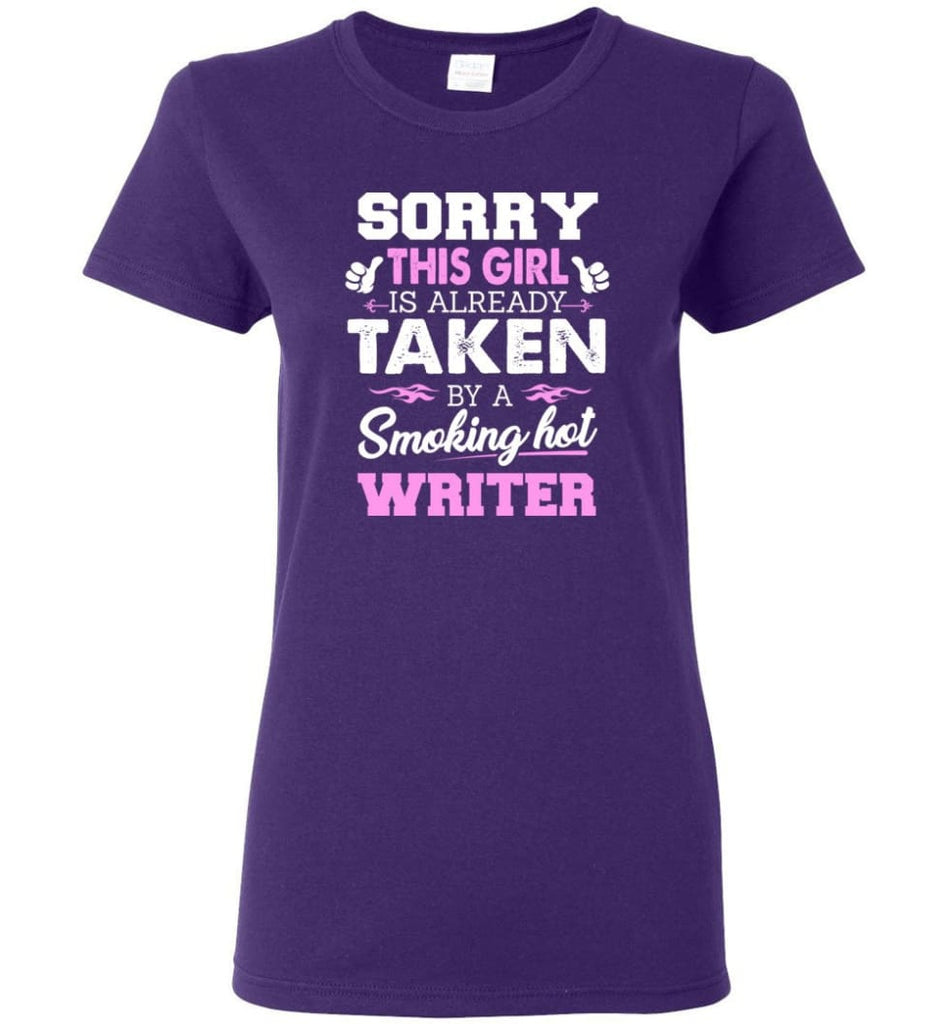 Writer Shirt Cool Gift for Girlfriend Wife or Lover Women Tee - Purple / M - 7