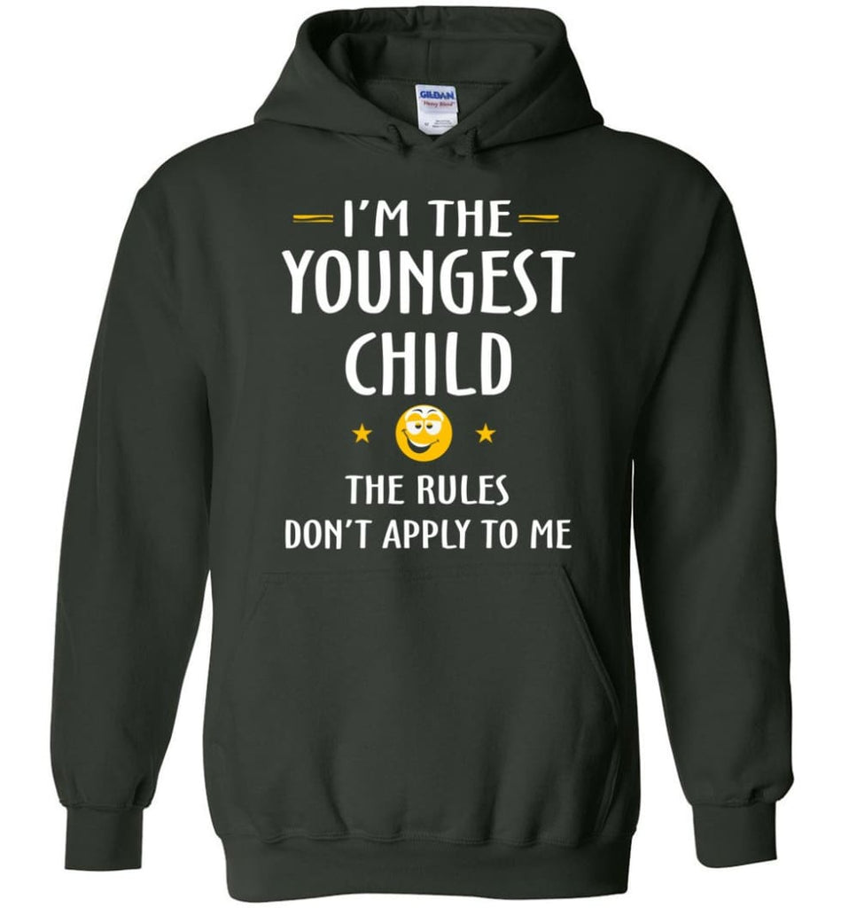 Youngest Child Shirt Funny Gift For Youngest Child Hoodie - Forest Green / M