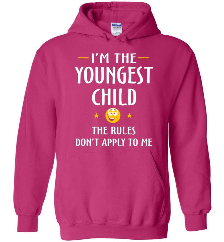 Youngest Child Shirt Funny Gift For Youngest Child Hoodie - Heliconia / M