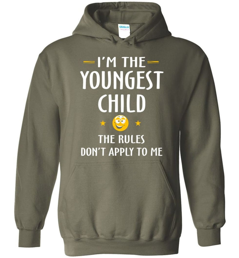 Youngest Child Shirt Funny Gift For Youngest Child Hoodie - Military Green / M