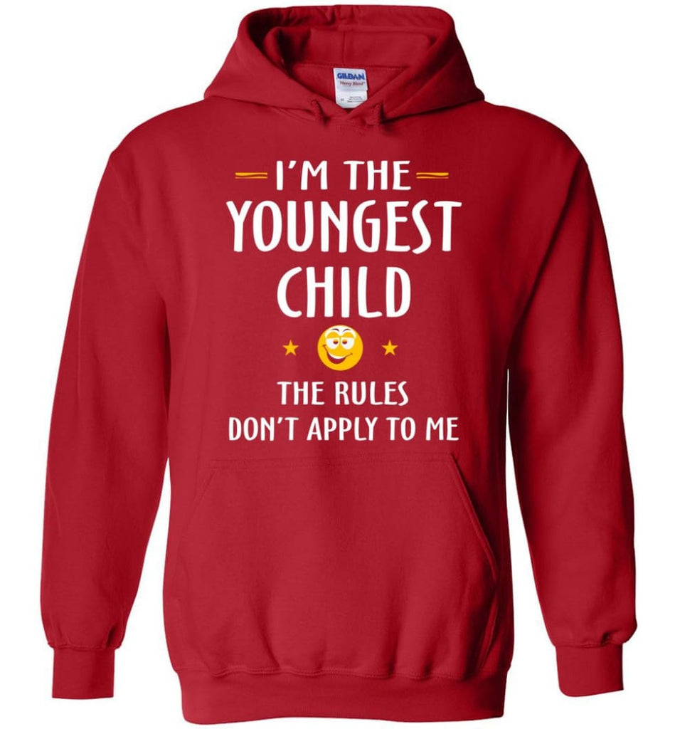 Youngest Child Shirt Funny Gift For Youngest Child Hoodie - Red / M