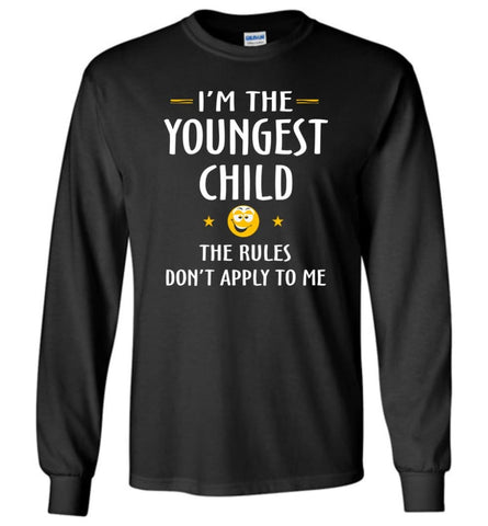 Youngest Child Shirt Funny Gift For Youngest Child - Long Sleeve T-Shirt - Black / M