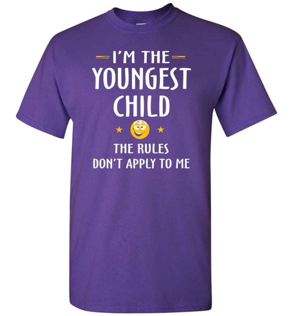Youngest Child Shirt Funny Gift For Youngest Child T-Shirt - Purple / S