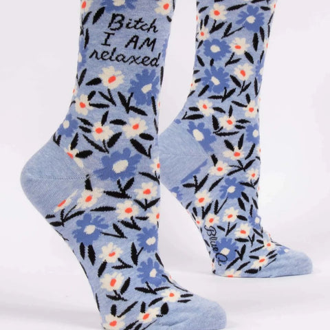 Women's Cotton Socks - Bitch I Am Relaxed