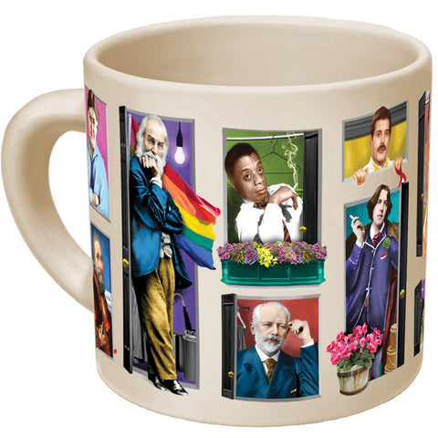 Great Gays Out Of The Closet Morph Mug - MERCURI - 1