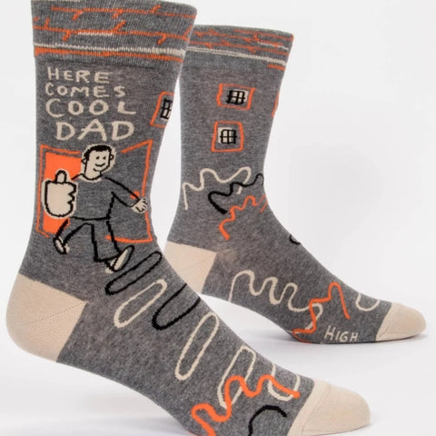 Men's Cotton Socks -  Here Comes Cool Dad