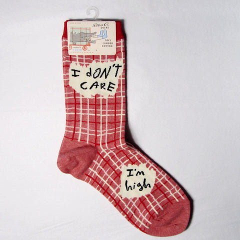 Women's Cotton Socks I Don't Care I'm High - MERCURI