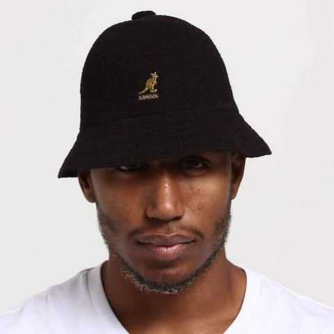 Kangol Bermuda Casual Hat - Black & Gold