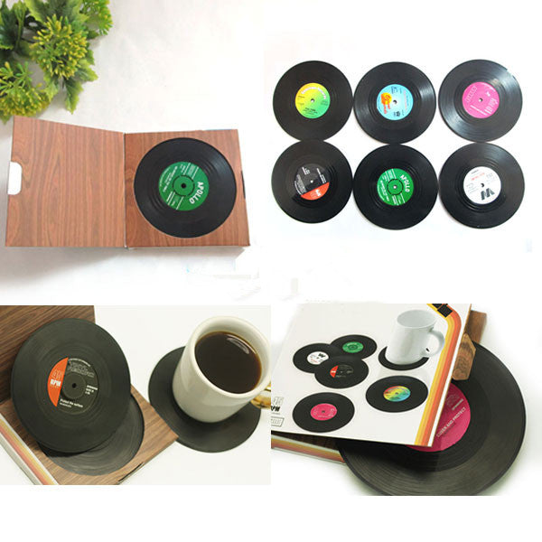 Vinyl Coasters (Set of 6) - MERCURI - 2
