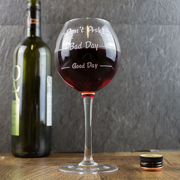 Wine Glass - How was your Day - MERCURI