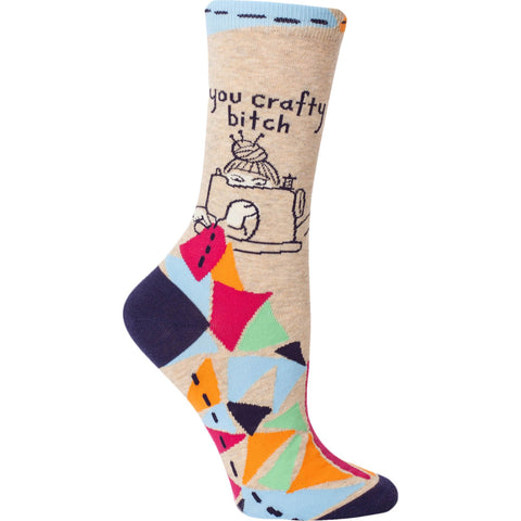 Women's Cotton Socks - You Crafty Bitch