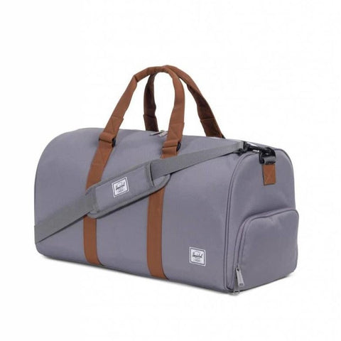 Herschel Novel Mid Volume - Grey/Tan Leather