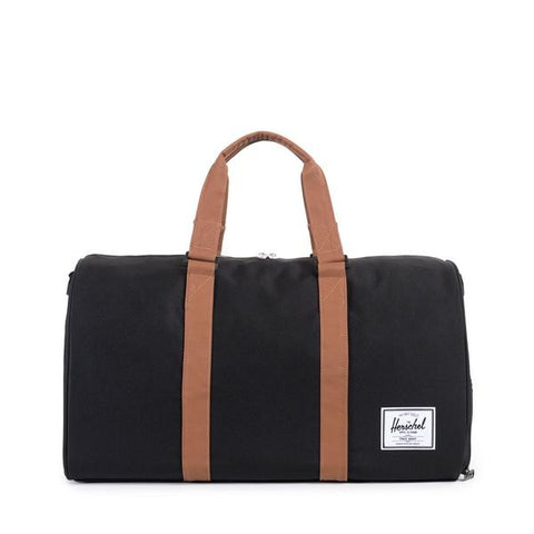 Herschel Novel Black/Tan Synthetic  Leather