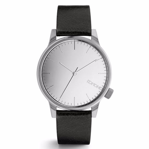 Winston Mirror Watch Silver/Black - MERCURI