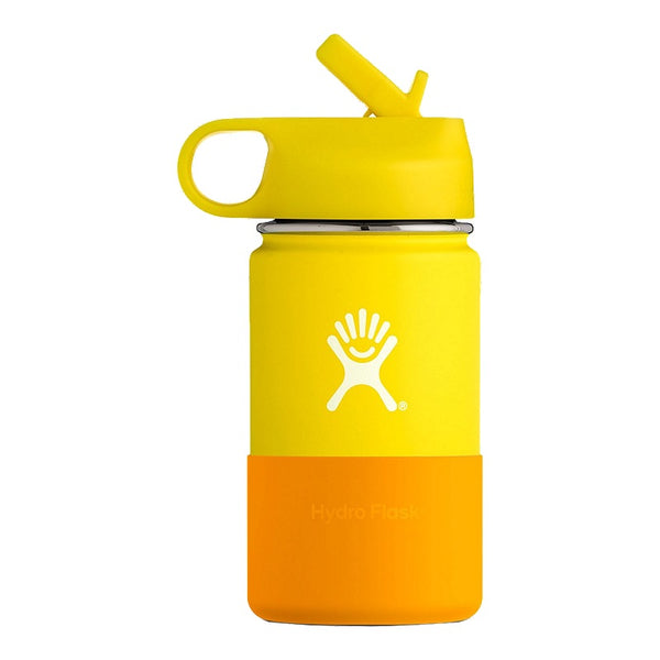 Hydro Flask 12 OZ KIDS WIDE MOUTH WITH STRAW LID LEMON