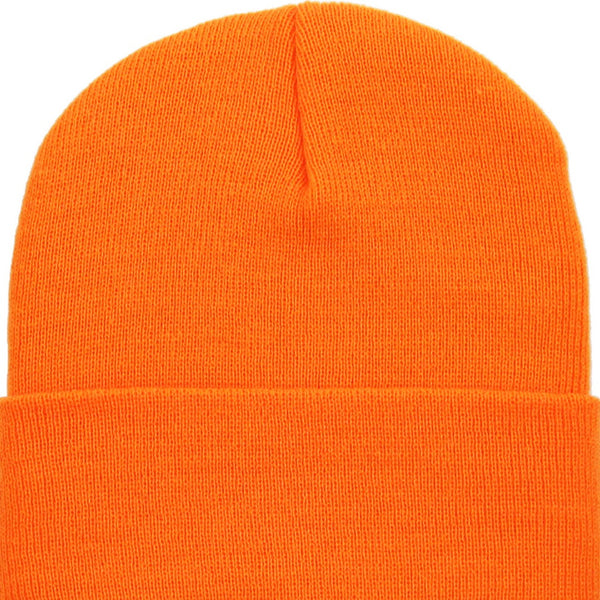Beanie Cuffed - Neon Orange