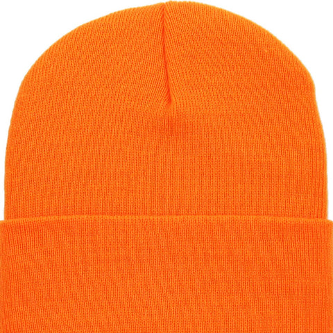 Bonnet à revers - Orange fluo