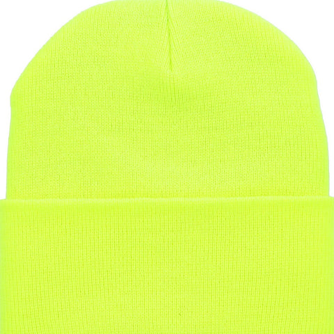 Beanie Cuffed - Neon Yellow