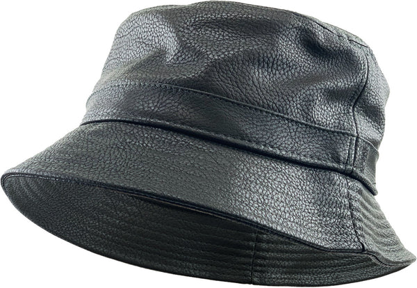 PU Leather Bucket Hat - Olive