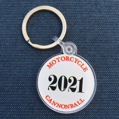 2021 Motorcycle Cannonball Keychain