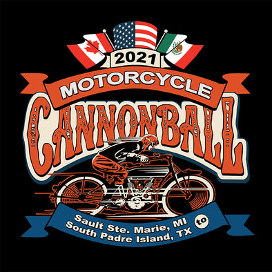 "2021 Motorcycle Cannonball Vehicle / Trailer Decal available in 6"", 12"", or 24"""