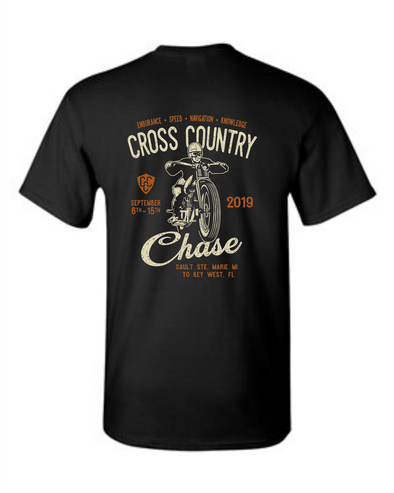 2019 Cross Country Chase Black Event T-Shirt