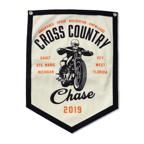 "2019 Cross Country Chase Handmade Wool Banner 18"" x 24"""