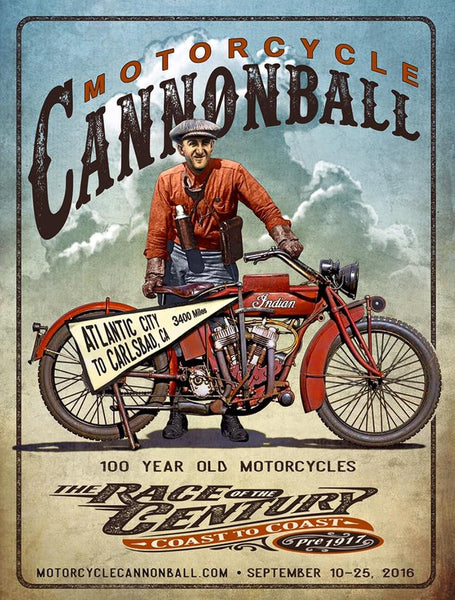 2016 Motorcycle Cannonball Baker Poster