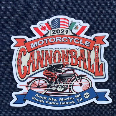 2021 Motorcycle Cannonball Magnet