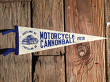 2018 Motorcycle Cannonball Wool Pennant, Portland to Portland