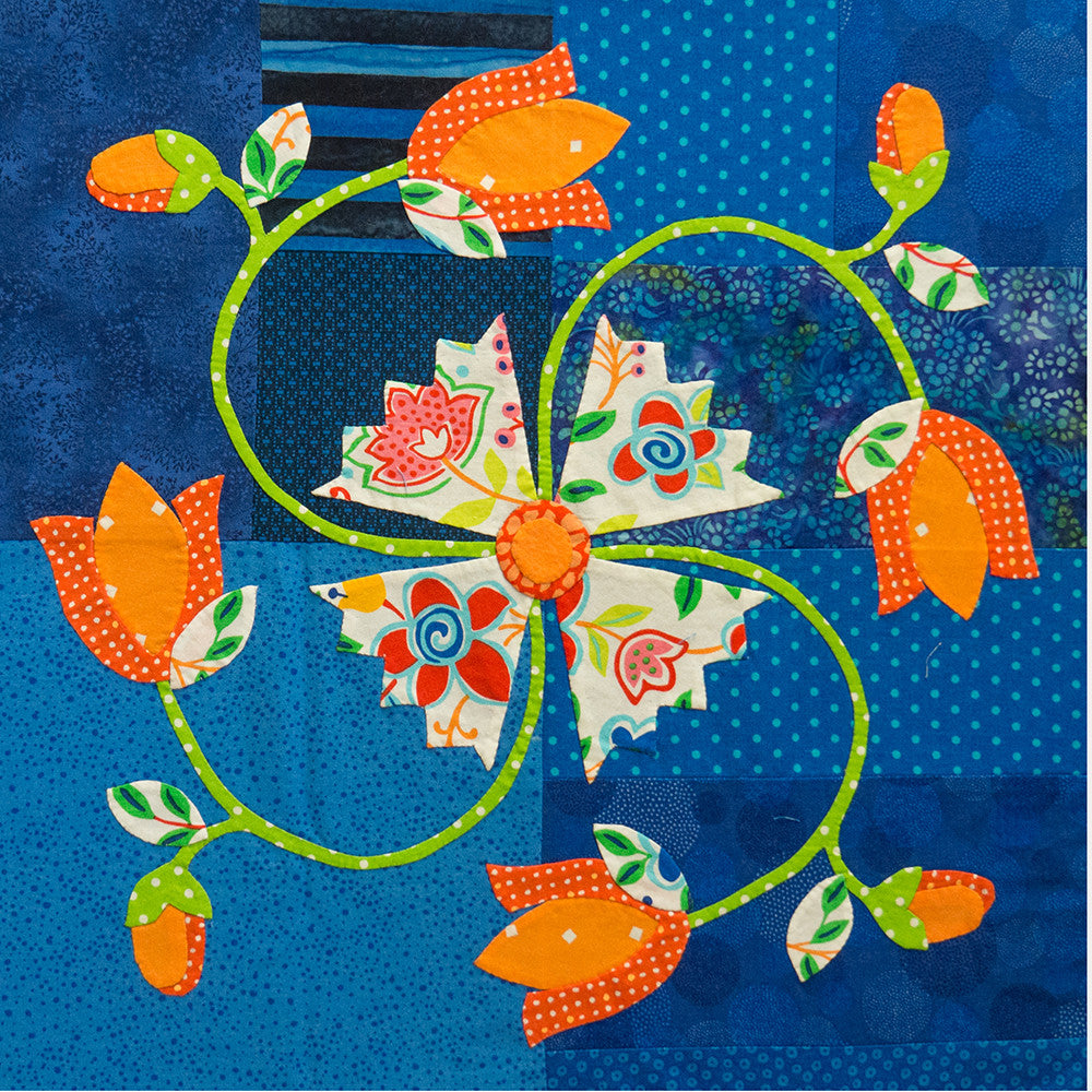 Thru Grandmother's Window - #6 Spring's Pinwheel - Downloadable Pattern