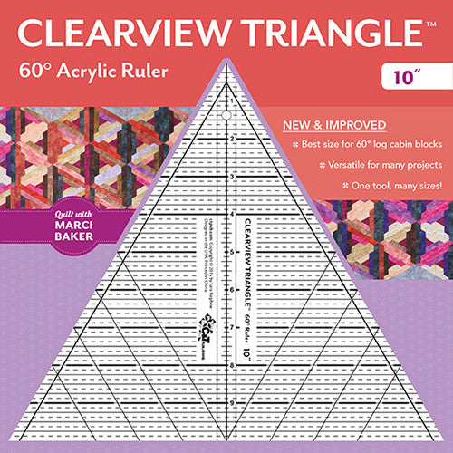 Clearview 60° Triangle Ruler - 10""