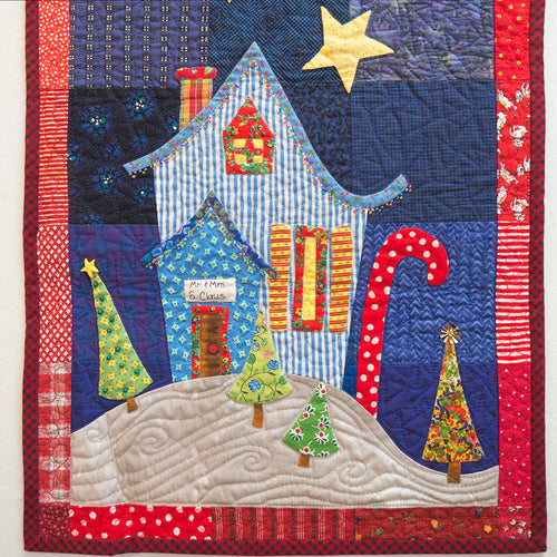 Dinner At Santa's House Table Runner Downloadable Pattern