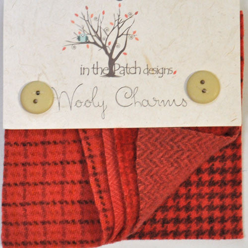 Wool Charm Pack – Red Orange (4547)