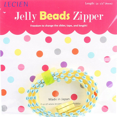 Jelly BEADS Zipper – Yellow & Aqua (50)