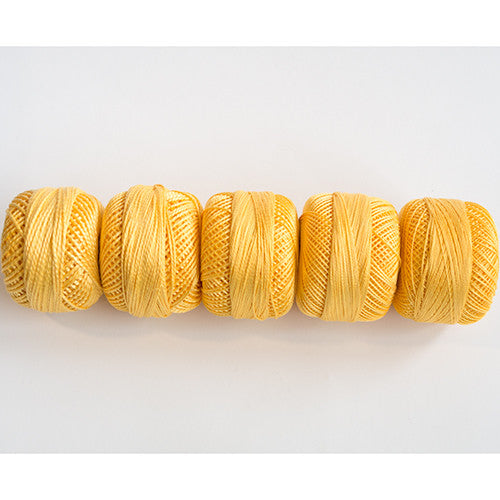 Perle Cotton 5-Size Thread Pack – Yellow