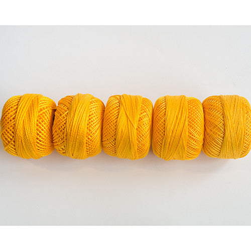 Perle Cotton 5-Size Thread Pack – Yellow-Orange