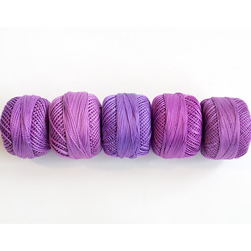 Perle Cotton 5-Size Thread Pack – Orchid